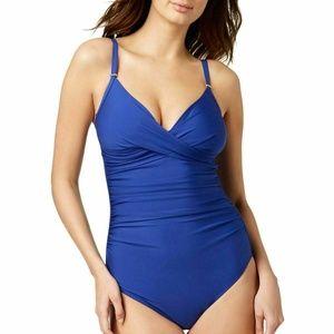 Calvin Klein Twist-Front One-Piece Swimsuit